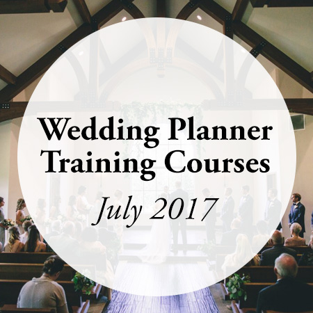 wedding planner training courses july 2017